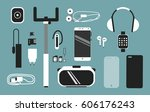 smart phone accessories vector... | Shutterstock .eps vector #606176243