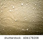 Water Drop On The Wall. Stone...