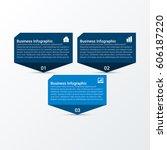 modern business infographic... | Shutterstock .eps vector #606187220