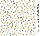 cute floral pattern of small...   Shutterstock .eps vector #606188864