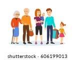 family shopping concept. a... | Shutterstock .eps vector #606199013