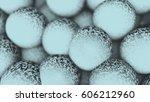 a lot of balls. 3d render... | Shutterstock . vector #606212960