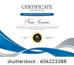 vector certificate template | Shutterstock .eps vector #606223388