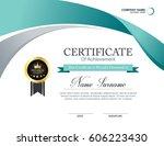 vector certificate template | Shutterstock .eps vector #606223430