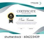 vector certificate template | Shutterstock .eps vector #606223439