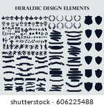 heraldic design elements | Shutterstock .eps vector #606225488