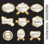 luxury premium pearl white and... | Shutterstock .eps vector #606238586
