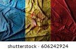 Grunge Crumpled Andorra Flag....