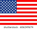 usa america united flag symbol... | Shutterstock . vector #606249674