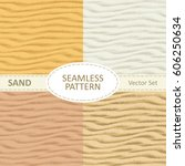 set of vector seamless sand... | Shutterstock .eps vector #606250634