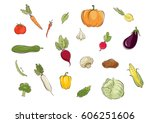 collection pictures   ... | Shutterstock .eps vector #606251606