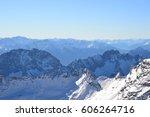 mountain blue sky zugspitze... | Shutterstock . vector #606264716