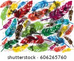 vector illustration of colorful ... | Shutterstock .eps vector #606265760