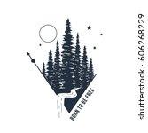 hand drawn inspirational badge... | Shutterstock .eps vector #606268229