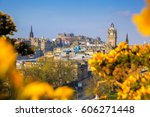 View Of Old Town Edinburgh Wit...