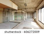 being renovated house | Shutterstock . vector #606272009