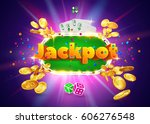 the word jackpot  surrounded by ... | Shutterstock .eps vector #606276548