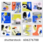 abstract tropical set | Shutterstock .eps vector #606276788