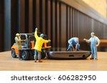 the miniature workmen...   Shutterstock . vector #606282950