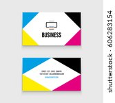 business card for printing shop | Shutterstock .eps vector #606283154