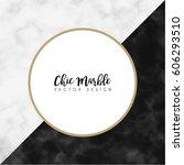 minimalist marble texture... | Shutterstock .eps vector #606293510