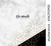 minimalist marble texture... | Shutterstock .eps vector #606293900