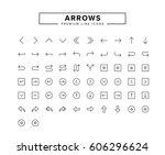 arrows line icon set