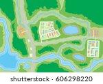 abstract generic suburban city... | Shutterstock .eps vector #606298220