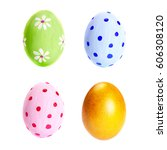 Collection Of Colorful Egg...