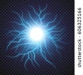 lightning flash light thunder... | Shutterstock .eps vector #606325166