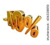 gold sale  40   gold percent... | Shutterstock . vector #606328850