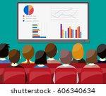 businessmen sitting on chair...   Shutterstock .eps vector #606340634