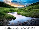 Meandering Stream near Crested Butte Colorado - stock photo