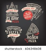 pizza menu graphic element for... | Shutterstock .eps vector #606348608