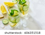 water sassi. refreshing summer... | Shutterstock . vector #606351518