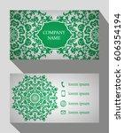 business card  vintage card set ... | Shutterstock .eps vector #606354194