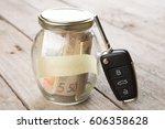 car finance concept   money... | Shutterstock . vector #606358628