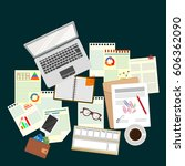 business analyst. study the... | Shutterstock .eps vector #606362090