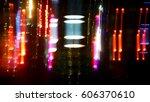 abstract night lights... | Shutterstock . vector #606370610