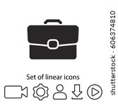 briefcase icon. one of set web...