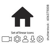 house icon. one of set web icons