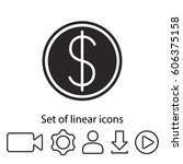 dollar icon. one of set web...