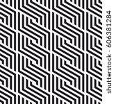 vector seamless pattern.... | Shutterstock .eps vector #606381284