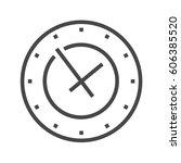 clock thin line vector icon....