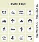 forrest icons | Shutterstock .eps vector #606386516