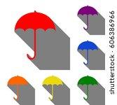 umbrella sign icon. rain... | Shutterstock .eps vector #606386966