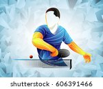 stylized player table tennis, ping pong, table tennis, Player, athlete, game, vector
