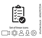 checklist icon. one of set web... | Shutterstock .eps vector #606392534