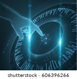 shiny blue technology ui vector ...