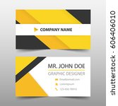yellow black corporate business ... | Shutterstock .eps vector #606406010